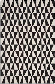 rug black and white. plantation geo01 geometric black / white rug and v