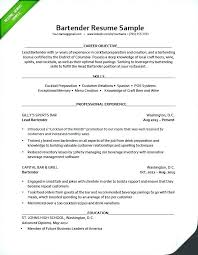Resume For A Bartender New Bartending Cv Competences Surdyka