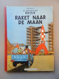 Hergé Kuifje 15 Raket Naar De Maan Hc 1e Druk 1953