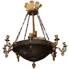 french empire style 8 arm chandelier for