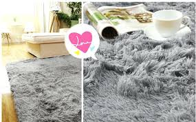 fluffy bedroom rugs info with soft plush area decorations grey rug next