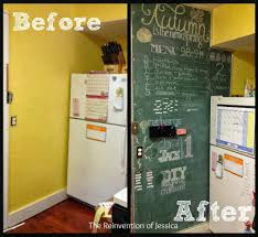 Kitchen Bulletin Board Diy Magnetic Chalkboard The Reinvention Of Jessica