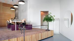 estate agent office design. VIDA Creates Boxing Ring-inspired Platforms Inside Stockholm Estate Agents Agent Office Design