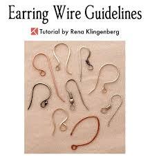 Mm Earring Chart Earring Wire Guidelines Jewelry Making Journal