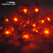 Fairy Lights Sock Kit Led String Lights Big Icon Spooky Haunted House 10ft Copper