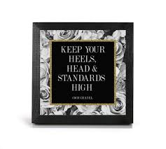 motivational frames for office. Keep Your Heels, Head \u0026 Standards High Print - Coco Chanel Office And Motivational Frames For