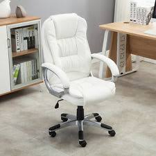 white leather office chair. white pu leather high back office chair executive ergonomic computer desk task