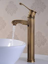 antique brass bathroom faucet. Traditional Vessel Brass Valve One Hole Single Handle Antique Brass, Bathroom Sink Faucet