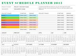 Events Schedule Template Microsoft Word