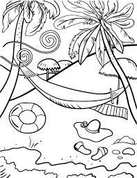 Small Picture Free Beach Coloring Page