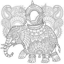 Cartoon Olifant Geïsoleerd Op Een Witte Achtergrond Schets Voor