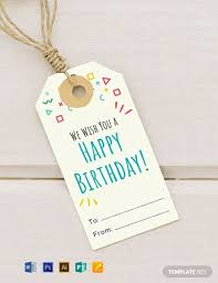 Gift Tag Template Free Free Birthday Gift Tag Template Word Psd Apple Pages