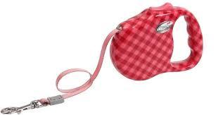 Рулетка Freego Клетка диагональ с лентой для собак, красная ...