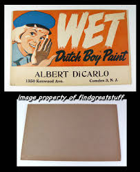 sign wet dutch boy paint sign camden nj vintage advertising