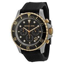 michael kors everest chronograph black dial black silicone men s michael kors everest chronograph black dial black silicone men s watch mk8366