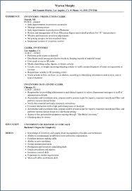 Inventory Clerk Job Inventory Clerk Cover Letter File Clerk