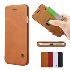 slim ultra thin with card holder slot luxury flip leather wallet book case for iphone 7