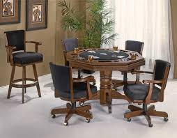 Game Table And Chairs Set Flip Top Card Table With Chairs Traditional Poker Table For The