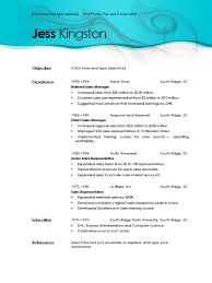 Free Resume Templates | aqua dreams