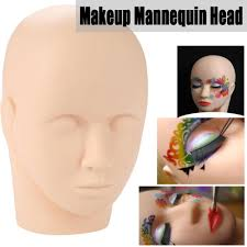 makeup mannequin head hilitand mannequin flat head make up eye lashes practice eyelash extensions kit walmart