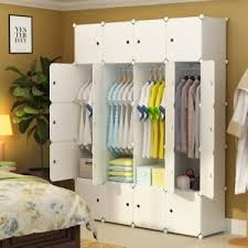 Image Is Loading White Portable Clothes Closet Wardrobe Bedroom  Armoire Storage