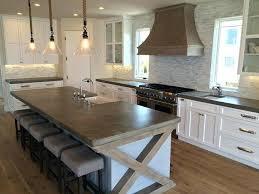 island countertop ideas big kitchen island french country concrete art of concrete ca love wood island