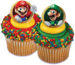 Subscribe please enter a valid email address. Amazon Com Super Mario Brothers Cupcake Rings 12 Pack Kitchen Dining