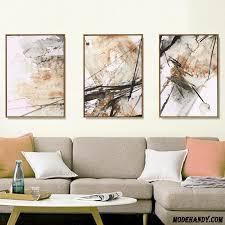 Triptychon Gemälde Sofa Einfach Wohnzimmer Schlafzimmer Rosa  Wanddekorationen Billig