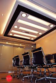decorations squrae roof false ceiling designs with brown and yellow color also white ceiling fan