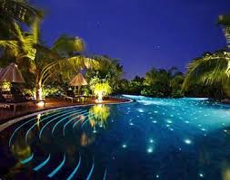 home swimming pools at night. Maldives, Asia: The Swimming Pool At Beach House Manafaru, Lit Up For Night | My Vision Board Pinterest Home Pools E