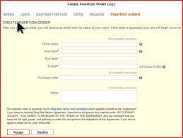 Fresh Advertising Insertion Order Template Npfg Online