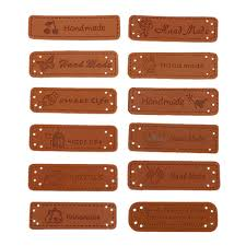 <b>10Pcs Handmade Pu Leather</b> On Clothes Embossed Labels For ...