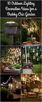 outdoor patio lighting ideas diy. 10 Outdoor Lighting Decoration Ideas For A Shabby Chic Garden. 6 Is Lovely - Amazing Diy Projects Patio I