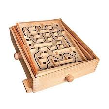 Wooden Maze Games Global Gizmos Kids Adults Traditional Wooden Labyrinth Toy Maze 65