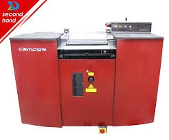 used second hand reconditioned camoga c420l band knife leather splitting machine