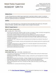 Retail Resume Objective Examples Retail Sales Supervisor Resume Samples Qwikresume