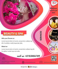 Download Free Modern Beauty Spa Flyer Design Templates