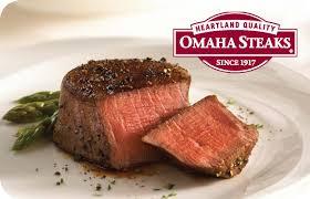 25 omaha steaks gift card