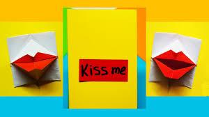 valentine s day diy origami kissing lips secret message pop up card julia diy you