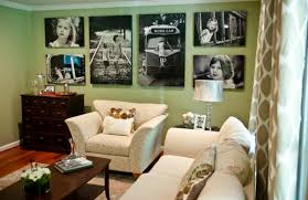 View in gallery Custom photo wall display looks far more impressive when  done in black and white