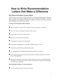 How To Format A Letter Of Recommendation For A Student How To Write An Academic Letter Of Recommendation