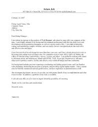 Crafting A Cover Letter Killer Cover Letters Examples Fashion Internship Cover Letter