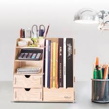 wooden office storage. DIY Wooden Office Storage Box With Magazine Holder D9116 D