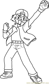 pokemon coloring pages ash
