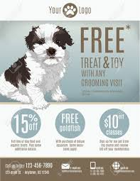 flyer template for a pet store or groomer discount coupons flyer template for a pet store or groomer discount coupons and advertisement featuring a cute
