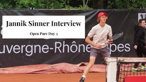 Interviewing Italian breakout, Jannik Sinner!! - Lyon Day 3