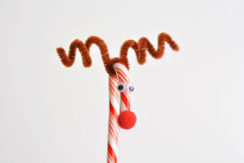 To Make Candy Cane Reindeer