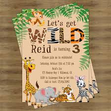 Jungle Theme Birthday Invitations Zoo Birthday Invitation Safari Birthday Invitation Jungle
