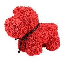 2019 valentines gift 37cm 38cm romantic artificial rose dog for wedding girlfriend anniversary gift creative diy present from rosaling 29 48 dhgate com