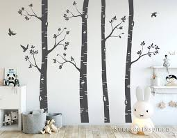 birch tree wall art art gallery